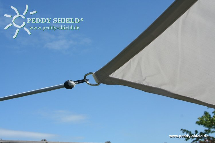 toldo vela rectangular 25 x 3 m gris claro