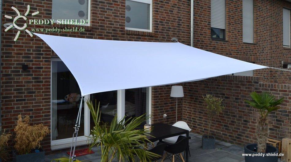 toldo vela rectangular 3 x 4 m color blanco - Toldo Vela Rectangular
