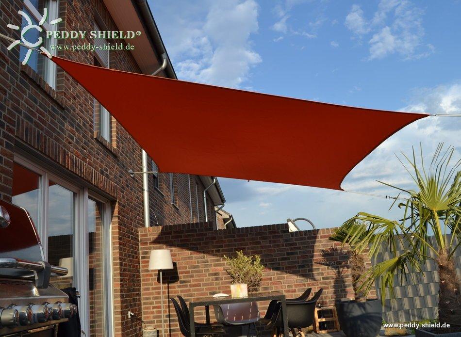 toldo vela rectangular 3 x 4 m color uni terracotta - Toldo Vela Rectangular