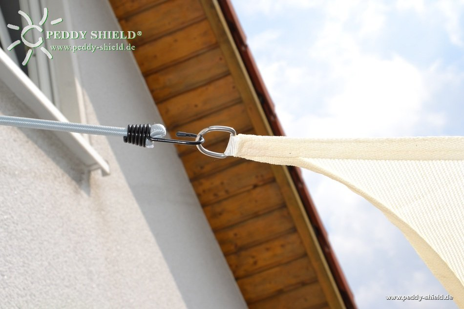 toldo vela rectangular 4 x 5 m lona sombral color de trigo - Toldo Vela Rectangular