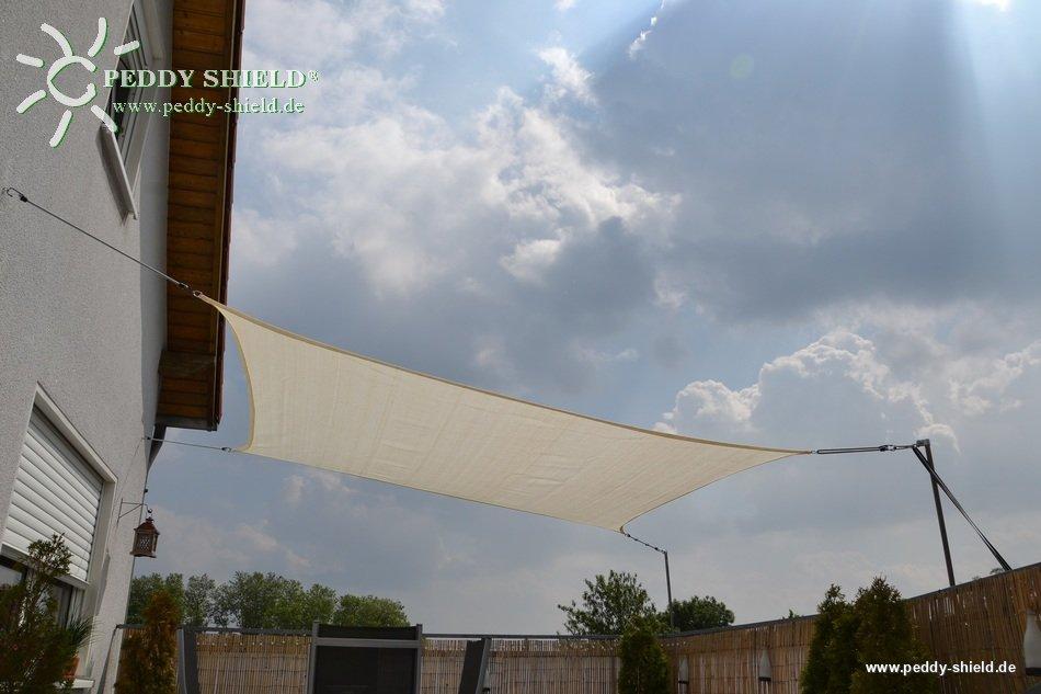 toldo vela rectangular 4 x 5 m lona sombral color de trigo